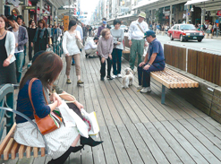 "A pilot program for ""The pleasant, pedestrian-friendly downtown"" strategy in Kyoto"