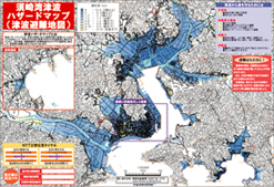 Hazard map according to tsunami simulation